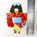 28-3433 Sample Warabe Japanese Washi Paper Doll Kit - www.HankoDesigns.com