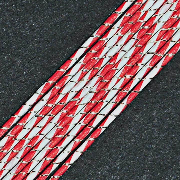 MHS473 Candy Red Shell Mizuhiki Paper Cord - Hanko Designs - www.HankoDesigns.com