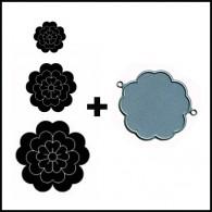 DD009 SETU Floral Layer Combo Set - Hanko Designs - www.HankoDesigns.com
