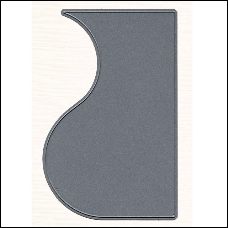 DD011 Design Panel Curve Metal Cutting Die - Hanko Designs - www.HankoDesigns.com