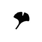 PN061 Small Ginkgo Leaf Punch - Hanko Designs - www.HankoDesigns.com