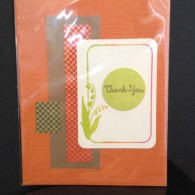 Orange Lily Tag Thank You 3002