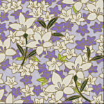 RTD7144 Floral Lavender Washi - Hanko Designs