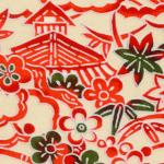 RTD7307 Village Scene Print Washi Paper - Hanko Designs