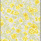 RTD9859P Elegant Yellow Flowers Washi Paper - Hanko Designs - Sakura, Blossom, Cherry Blossom, Spring