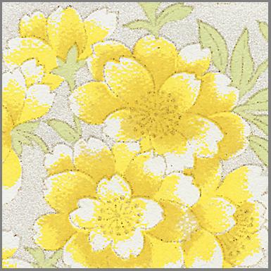 RTB9859P Elegant Yellow Flowers Washi Paper - Hanko Designs - Sakura, Blossom, Cherry Blossom, Spring