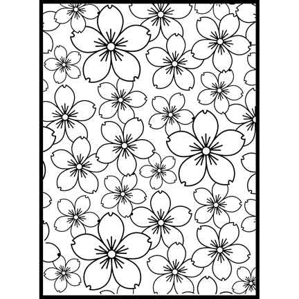 SECX001 Sakura Background Folder - Hanko Designs - www.HankoDesigns.com