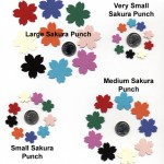 Sakura Cherry Blossom Paper Punch Chart - Hanko Designs