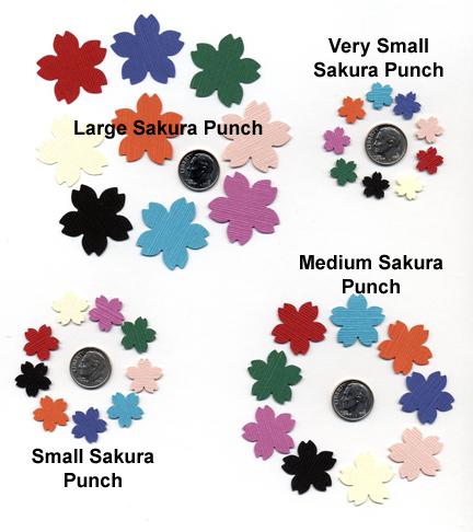 sakura cherry blossom paper punch chart