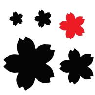 PN003 Medium Carl Sakura Cherry Blossom Punc h - Paper Craft Punch. - Hanko Designs - www.hankodesigns.com - Carla Carl Craft
