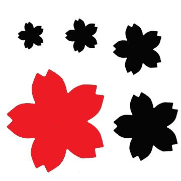 PN057 Sakura Cherry Blossom Punch Mega - Hanko Designs - www.HankoDesigns.com