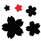 PN054 Sakura Cherry Blossom Paper Punch Small - Hanko Designs - www.HankoDesigns.com