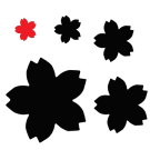 PN075 Very Small Sakura Cherry Blossom Paper Punch - www.HankoDesigns.com - Hanko Designs 2013