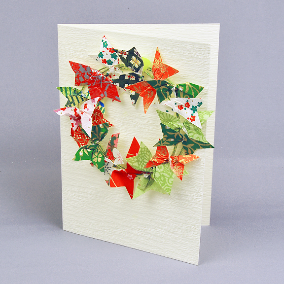 5001 Christmas Wreath card from Sally Traidman - www.HankoDesigns.com 2013