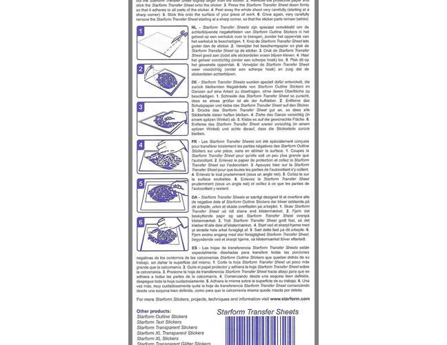 SRP004 Transfer Sheet - Magic Tape - Starform - www.HankoDesigns.com