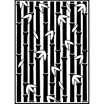 SECX002 Bamboo Forest Embossing Folder - www.HankoDesigns.com