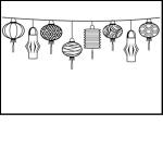 SECX003 Chochin Japanese Obon Lantern Embossing Folders - www.HankoDesigns.com