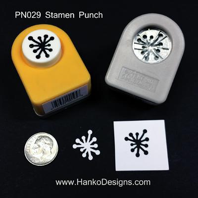PN029 Stamen Paper Punch small - www.HankoDesigns.com 2014