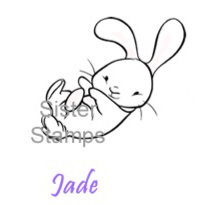 21 Jade Bunny Sister Stamps - www.SisterStamps.com