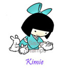 21 Kimie w/Bunny Sister Stamps Easter www.HankoDesigns.com