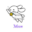 21 Moon Bunny Sister Stamps www.SisterStamps.com Rabbit Easter