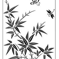 SEC4022 Bamboo Spring Embossing Folder - www.HankoDesigns.com