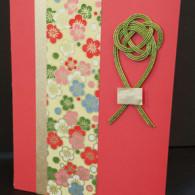 Sakura Pastel Awabi Musubi Washi Japanese Handmade Card - HankoDesigns.com 2014