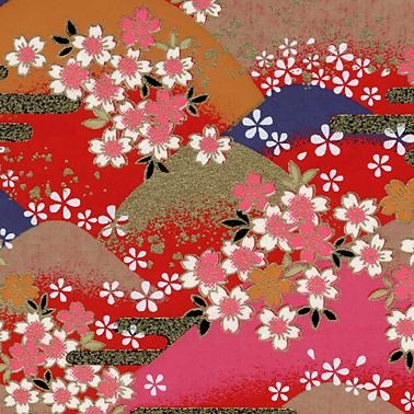 Closeup 1 RKB8520 Washi Hills Japanese Washi Paper www.HankoDesigns.com Bulk Washi Paper