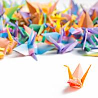 Origami Crane Family Hanko Designs