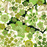 RA531 Green Sakura Splendor Washi