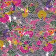 "RKB8642-72 Lavender Teal Wonder Japanese Yuzen Washi Paper - www.HankoDesigns.com 8.5"" x 11"