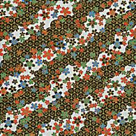 RTD7119 Elegant Black Stream Sakura Japanese Yuzen Washi Paper - www.HankoDesigns.com