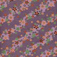 RTD7127 Passion Purple Lavender Sakura Japanese Yuzen Washi Paper - www.HankoDesigns.com