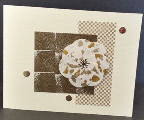 Gold Tone Shadow Stamping Card by Jean Okamoto 2014