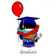 SS0070 Graduate w/ Ballons Sister Stamps