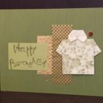 Brush Happy Birthday Card w/ simple layering by Jean Okamoto - Hanko Designs