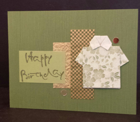Brush Happy Birthday Card w/ simple layering by Jean Okamoto - Hanko Designs