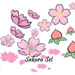 SS0074 Sakura Cherry Blossom Set Sister Stamps