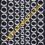 SEC7018BLK Black Silver Glitter Dots Peel-Off Stickers - www.HankoDesigns.com
