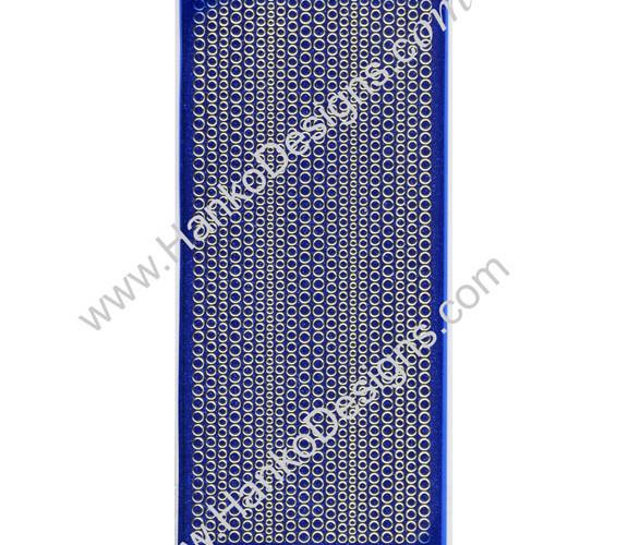 SEC7018BLU Blue Gold Glitter Dots Peel-Off Stickers - www.HankoDesigns.com