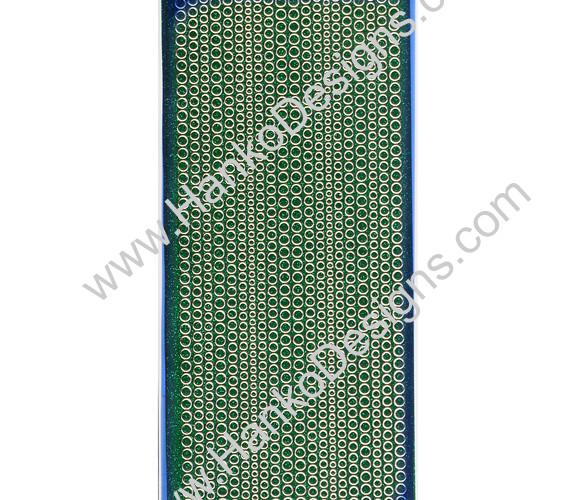SEC7018GRN Green Gold Glitter Dots Peel-Off Stickers - www.HankoDesigns.com