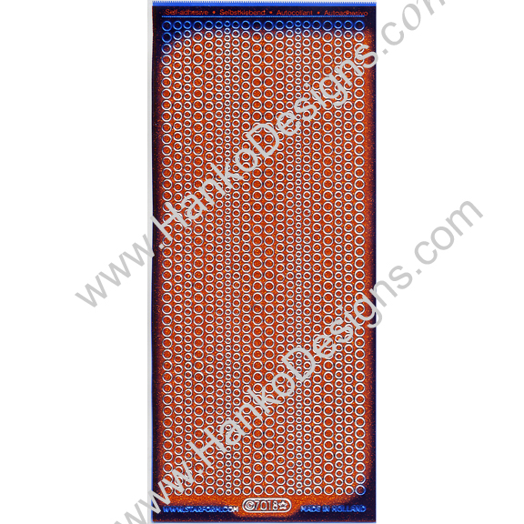 SEC7018ORG Orange Silver Glitter Dots Peel-Off Stickers - www.HankoDesigns.com