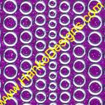 SEC7018PUR Purple Silver Glitter Dots Peel-Off Stickers - www.HankoDesigns.com