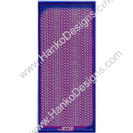 SEC7018PUR Purple Silver Glitter Dots Peel-Off Stickers - www.HankoDesigns.com