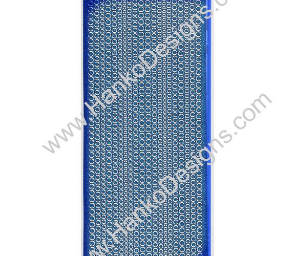 SEC7018TUQ Turquoise Silver Glitter Dots Peel-Off Stickers - www.HankoDesigns.com