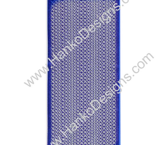 SEC7018VIO Violet Silver Glitter Dots Peel-Off Stickers - www.HankoDesigns.com