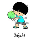 24 Ekahi Shave Ice Boy Sister Stamps July 2014 - www.SisterStamps.com SS0076