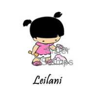 24 Leilani Shave Ice Girl Small Sister Stamps July 2014 - www.SisterStamps.com SS0077