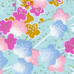 RC4812 Pastel Plum Blossoms Washi - Hanko Designs