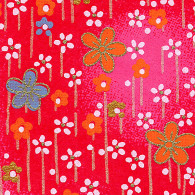 RCR1 Plum Field Red Japanese Washi Paper - Hanko Designs - www.HankoDesigns.com 2014